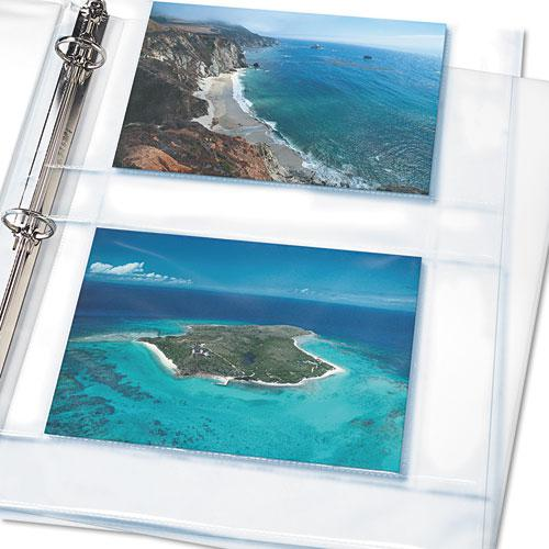 Photo Storage Pages for Four 4 x 6 Horizontal Photos, 3-Hole Punched, 10/Pack. Picture 2