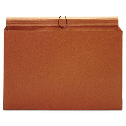 "Expanding Wallet, 3.5"" Expansion, 1 Section, Tabloid Size, Brown. Picture 5"