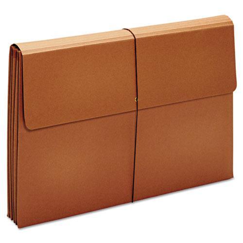 "Expanding Wallet, 3.5"" Expansion, 1 Section, Tabloid Size, Brown. Picture 3"