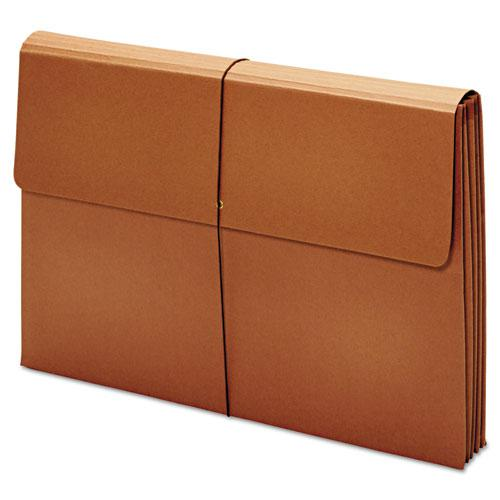 "Expanding Wallet, 3.5"" Expansion, 1 Section, Tabloid Size, Brown. Picture 2"