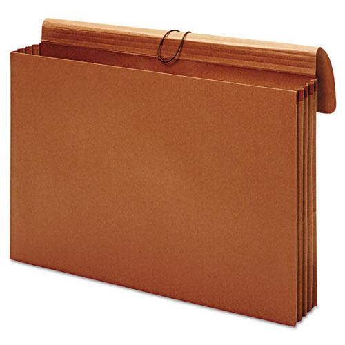 "Expanding Wallet, 3.5"" Expansion, 1 Section, Tabloid Size, Brown. Picture 4"