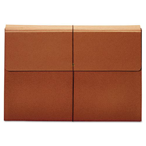 "Expanding Wallet, 3.5"" Expansion, 1 Section, Tabloid Size, Brown. Picture 1"
