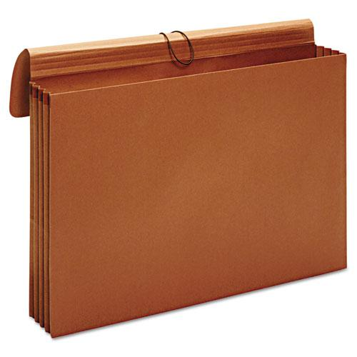 "Expanding Wallet, 3.5"" Expansion, 1 Section, Tabloid Size, Brown"