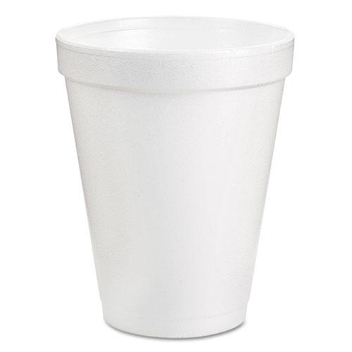 Foam Drink Cups, 8oz, White, 25/Pack. Picture 1