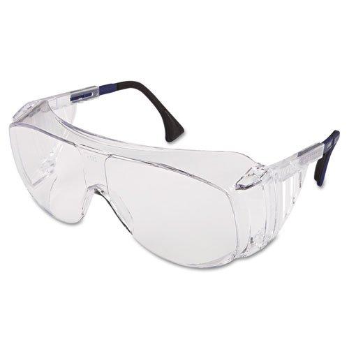 Ultraspec 2001 OTG Safety Eyewear, Clear/Black Frame, Clear Lens. Picture 1