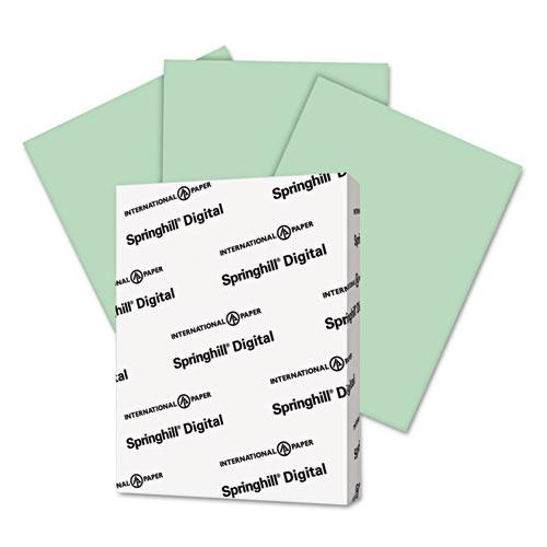Digital Index Color Card Stock, 90lb, 8.5 x 11, Green, 250/Pack