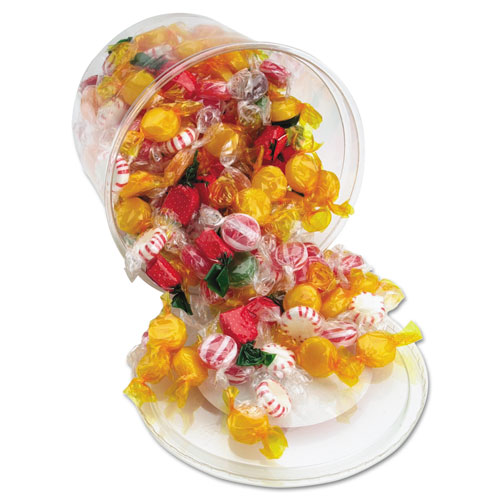 Fancy Assorted Hard Candy, Individually Wrapped, 2 lb Resealable Plastic Tub. Picture 1