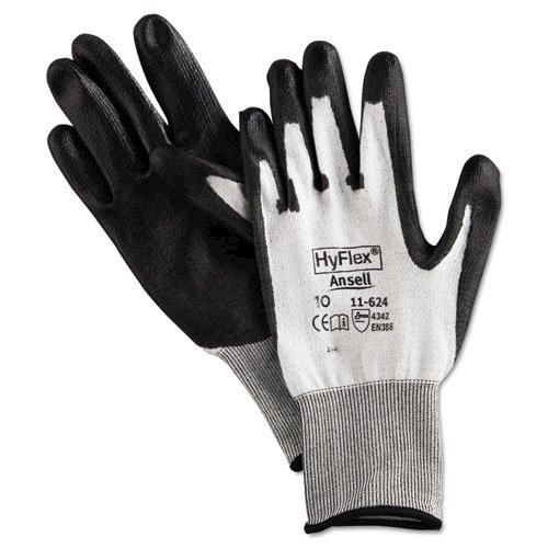 HyFlex Dyneema Cut-Protection Gloves, Gray, Size 10, 12 Pairs. Picture 1