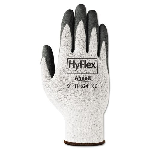 HyFlex Dyneema Cut-Protection Gloves, Gray, Size 10, 12 Pairs. Picture 2