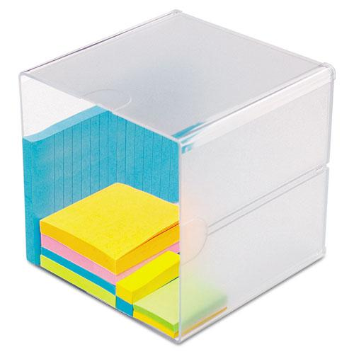 Stackable Cube Organizer, 6 x 6 x 6, Clear. Picture 1