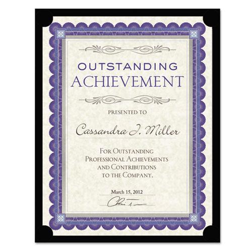 Certificate Holder, Black, 105lb Linen Stock, 12 x 9 1/2, 10/Pack. Picture 3