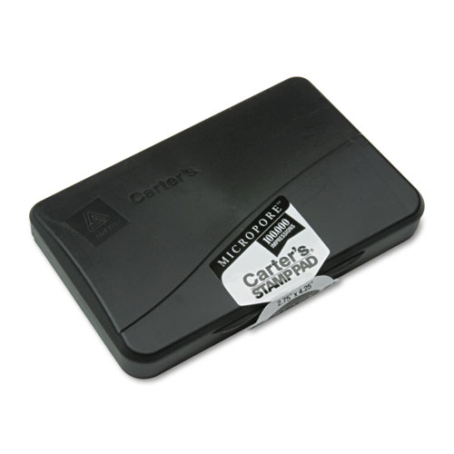 Pre-Inked Micropore Stamp Pad, 4.25 x 2.75, Black. Picture 1