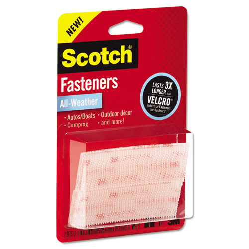 """Extreme Fasteners, 1"""" x 3"""", Clear, 2/Pack. Picture 3"""