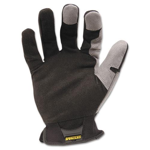 Workforce Glove, X-Large, Gray/Black, Pair. Picture 1