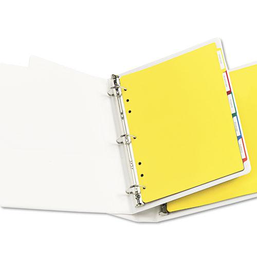 Heavy-Duty Plastic Dividers with Multicolor Tabs and White Labels , 5-Tab, 11 x 8.5, Assorted, 1 Set. Picture 3