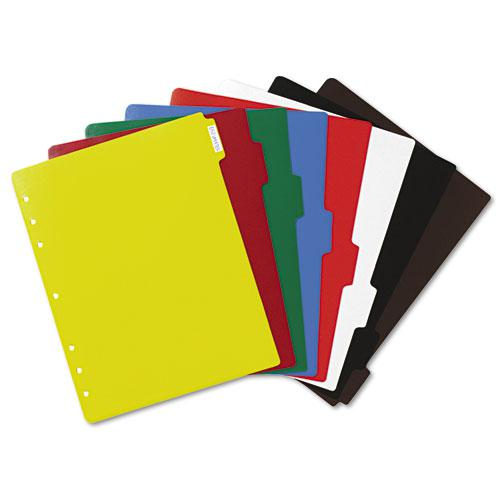 Heavy-Duty Plastic Dividers with Multicolor Tabs and White Labels , 8-Tab, 11 x 8.5, Assorted, 1 Set. Picture 3