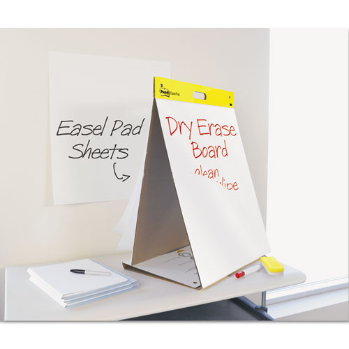 Self-Stick Tabletop Easel Pad with Dry Erase Surface, 20 x 23, White, 20 Sheets. Picture 1