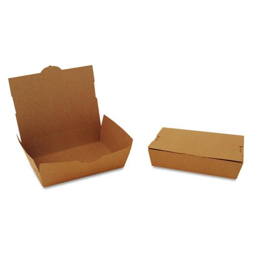 ChampPak Carryout Boxes, #2, 7.75 x 5.5 x 1.88, Kraft, 200/Carton. Picture 1
