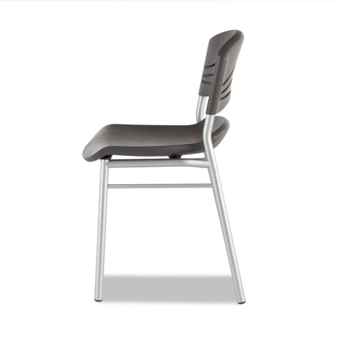 Iceberg CaféWorks Café Chairs, 2-Pack, Graphite. Picture 2