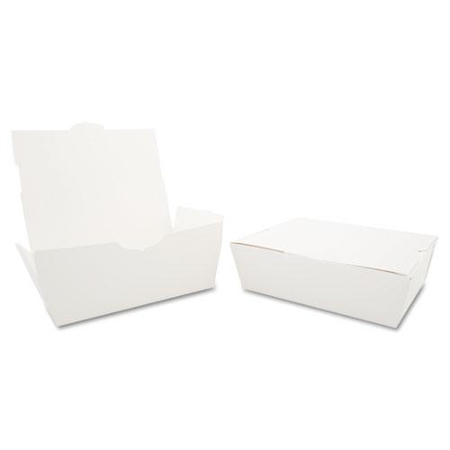 ChampPak Carryout Boxes, 3lb, 7 3/4w x 5 1/2d x 2 1/2h, White, 200/Carton. Picture 1