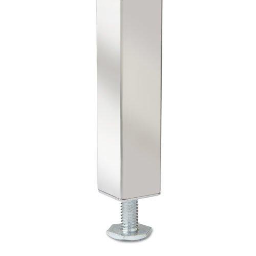 "Double Pedestal Steel Desk, 60"" x 30"" x 29.5"", Mocha/Black. Picture 4"