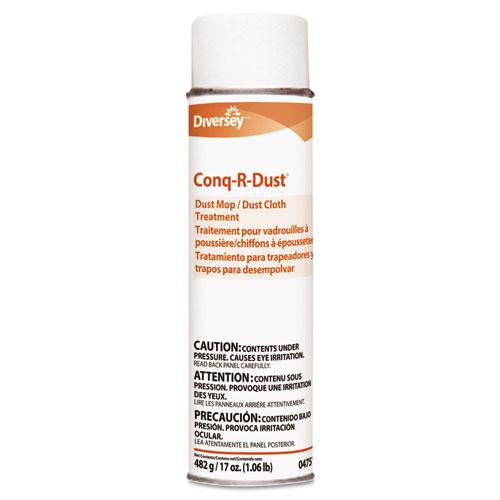 Conq-r-Dust Dust Mop/Dust Cloth Treatment, Amine Scent, 17oz Aerosol, 12/Carton. Picture 1