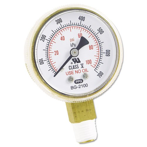 Replacement Gauge, 2 x 100, Brass. Picture 1