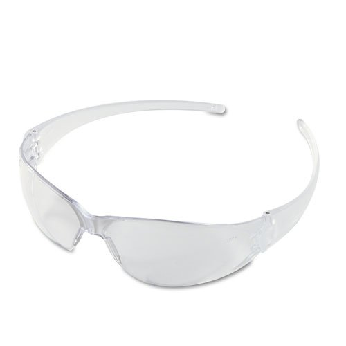 Checkmate Wraparound Safety Glasses, CLR Polycarbonate Frame, Coated Clear Lens. Picture 1