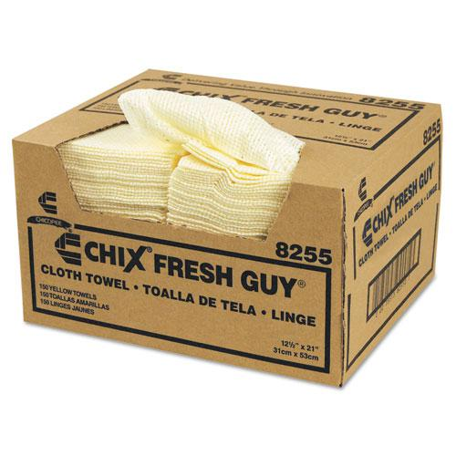Fresh Guy Towels, 13 1/2 x 13 1/2, Yellow, 150/Carton. The main picture.