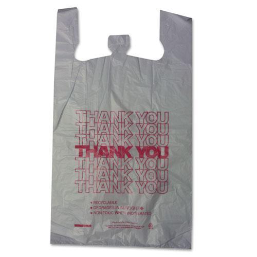 "Thank You High-Density Shopping Bags, 18"" x 30"", White, 500/Carton. Picture 1"