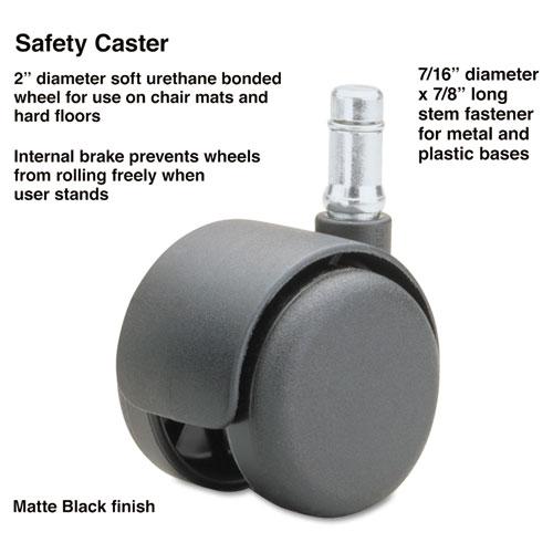 Safety Casters Standard Neck Polyurethane B Stem 110