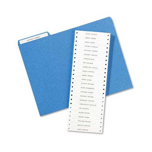 Dot Matrix Printer Permanent File Folder Labels, 0.44 x 3.5, White, 5,000/Box. Picture 3