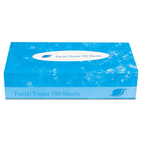 Boxed Facial Tissue, 2-Ply, White, 100 Sheets/Box. Picture 1