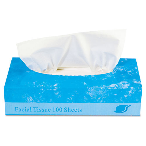 Boxed Facial Tissue, 2-Ply, White, 100 Sheets/Box. Picture 3