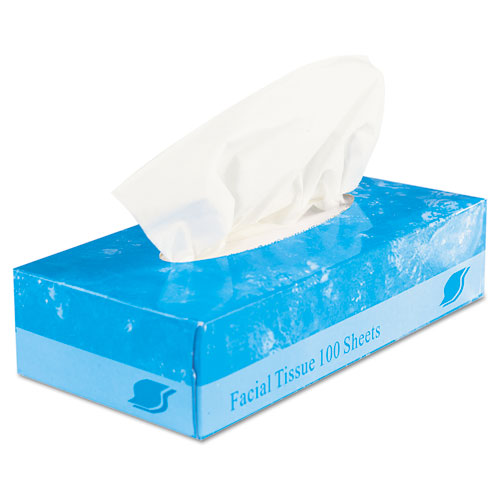 Boxed Facial Tissue, 2-Ply, White, 100 Sheets/Box. Picture 4