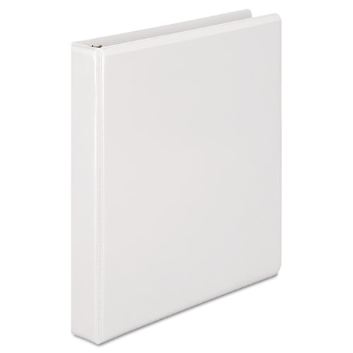 """Heavy-Duty D-Ring View Binder with Extra-Durable Hinge, 3 Rings, 1"""" Capacity, 11 x 8.5, White. Picture 3"""