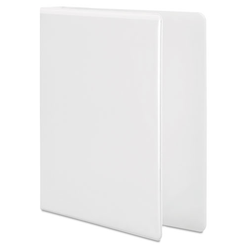 """Heavy-Duty D-Ring View Binder with Extra-Durable Hinge, 3 Rings, 1"""" Capacity, 11 x 8.5, White. Picture 2"""