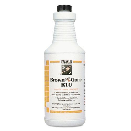 Brown 'Bee' Gone RTU Carpet Tannin Treatment, Liquid, 1 qt. Flip-Top Bottle. Picture 1