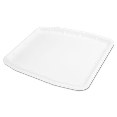 Supermarket Tray, 12 x 15.75 x 0.75, White, 100/Carton. Picture 1
