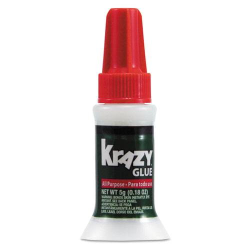 All Purpose Brush-On Krazy Glue, 0.17 oz, Dries Clear. Picture 1