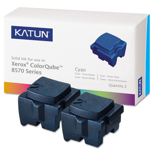 Compatible 108R00926 Solid Ink Stick, 4,400 Page-Yield, Cyan. Picture 1