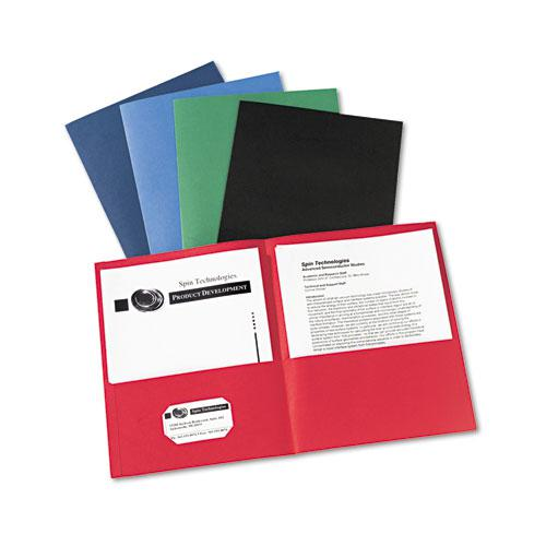 Two-Pocket Folder, 40-Sheet Capacity, Assorted Colors, 25/Box. Picture 6