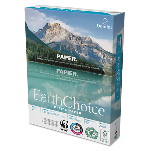 EarthChoice Office Paper, 92 Bright, 20lb, 8.5 x 11, White, 500 Sheets/Ream, 10 Reams/Carton