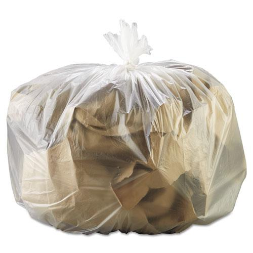 """High Density Can Liners, 33 gal, 13 microns, 33"""" x 39"""", Natural, 250/Carton. Picture 1"""