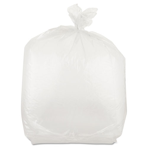 "Food Bags, 22 qt, 1 mil, 10"" x 24"", Clear, 500/Carton. Picture 1"