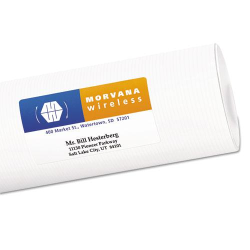 Vibrant Laser Color-Print Labels w/ Sure Feed, 2 x 3 3/4, White, 200/PK. Picture 2