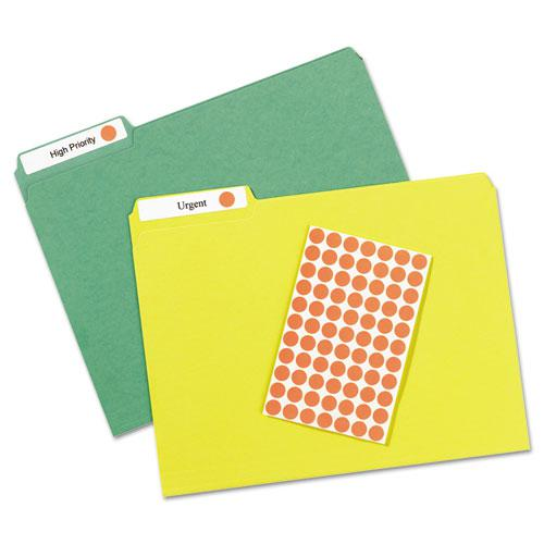 """Handwrite Only Self-Adhesive Removable Round Color-Coding Labels, 0.5"""" dia., Neon Red, 60/Sheet, 14 Sheets/Pack, (5051). Picture 3"""