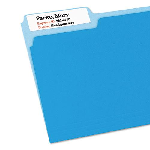 Extra-Large TrueBlock File Folder Labels with Sure Feed Technology, 0.94 x 3.44, White, 18/Sheet, 25 Sheets/Pack. Picture 3