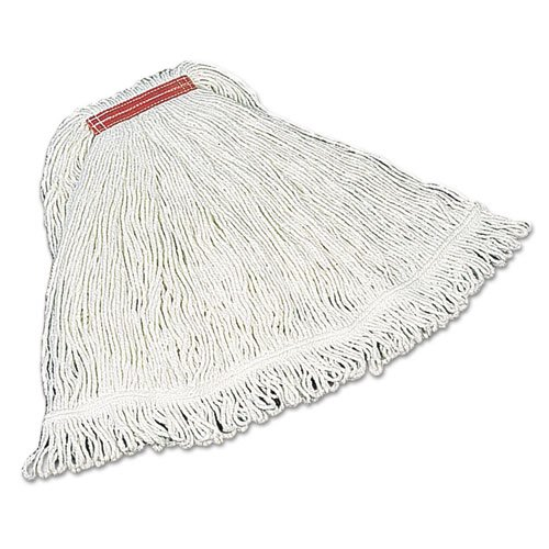 Super Stitch Rayon Mop Heads, Cotton/Synthetic, White, Large. Picture 1