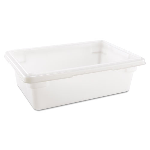 Food/Tote Boxes, 3.5gal, 18w x 12d x 6h, White. Picture 1
